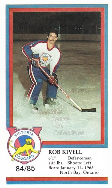 1984-85 Victoria Cougars #12 Rob Kivell<br/>5 In Stock - $3.00 each - <a href=https://centericecollectibles.foxycart.com/cart?name=1984-85%20Victoria%20Cougars%20%2312%20Rob%20Kivell...&price=$3.00&code=26640 class=foxycart> Buy it now! </a>