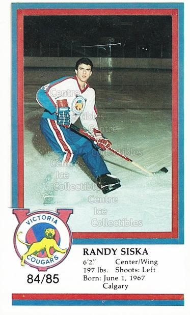 1984-85 Victoria Cougars #23 Randy Siska<br/>8 In Stock - $3.00 each - <a href=https://centericecollectibles.foxycart.com/cart?name=1984-85%20Victoria%20Cougars%20%2323%20Randy%20Siska...&price=$3.00&code=26649 class=foxycart> Buy it now! </a>