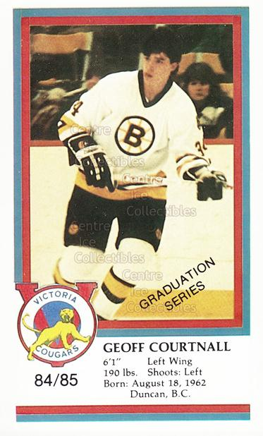 1984-85 Victoria Cougars #6 Geoff Courtnall<br/>9 In Stock - $3.00 each - <a href=https://centericecollectibles.foxycart.com/cart?name=1984-85%20Victoria%20Cougars%20%236%20Geoff%20Courtnall...&price=$3.00&code=26654 class=foxycart> Buy it now! </a>