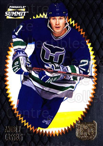 1996-97 Summit Metal Dull Front #44 Andrew Cassels<br/>3 In Stock - $1.00 each - <a href=https://centericecollectibles.foxycart.com/cart?name=1996-97%20Summit%20Metal%20Dull%20Front%20%2344%20Andrew%20Cassels...&quantity_max=3&price=$1.00&code=267159 class=foxycart> Buy it now! </a>