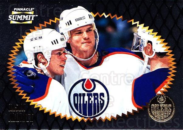 1996-97 Summit Metal Dull Front #103 Jason Arnott<br/>5 In Stock - $1.00 each - <a href=https://centericecollectibles.foxycart.com/cart?name=1996-97%20Summit%20Metal%20Dull%20Front%20%23103%20Jason%20Arnott...&quantity_max=5&price=$1.00&code=267218 class=foxycart> Buy it now! </a>