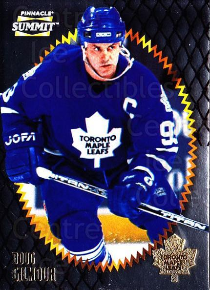 1996-97 Summit Metal Dull Front #118 Doug Gilmour<br/>1 In Stock - $1.00 each - <a href=https://centericecollectibles.foxycart.com/cart?name=1996-97%20Summit%20Metal%20Dull%20Front%20%23118%20Doug%20Gilmour...&quantity_max=1&price=$1.00&code=267233 class=foxycart> Buy it now! </a>