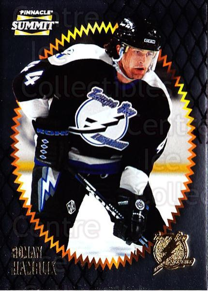 1996-97 Summit Metal Dull Front #132 Roman Hamrlik<br/>3 In Stock - $1.00 each - <a href=https://centericecollectibles.foxycart.com/cart?name=1996-97%20Summit%20Metal%20Dull%20Front%20%23132%20Roman%20Hamrlik...&quantity_max=3&price=$1.00&code=267247 class=foxycart> Buy it now! </a>