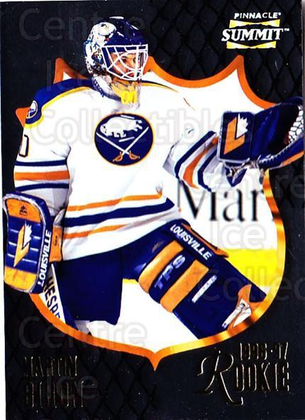 1996-97 Summit Metal Dull Front #179 Martin Biron<br/>2 In Stock - $1.00 each - <a href=https://centericecollectibles.foxycart.com/cart?name=1996-97%20Summit%20Metal%20Dull%20Front%20%23179%20Martin%20Biron...&quantity_max=2&price=$1.00&code=267294 class=foxycart> Buy it now! </a>