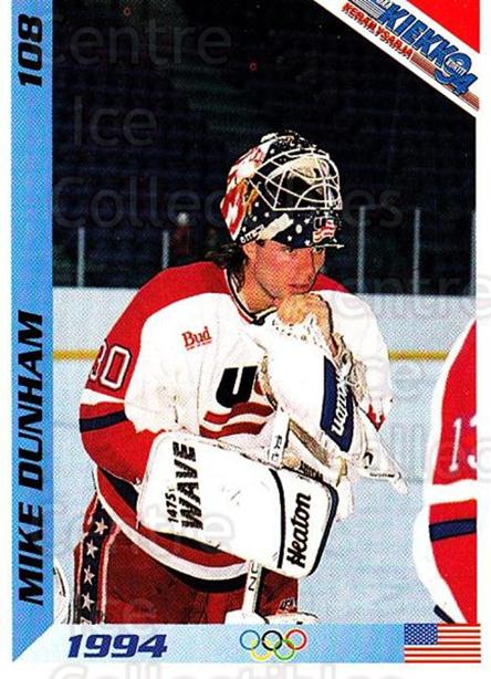 1994 Finnish Jaa Kiekko #108 Mike Dunham<br/>1 In Stock - $2.00 each - <a href=https://centericecollectibles.foxycart.com/cart?name=1994%20Finnish%20Jaa%20Kiekko%20%23108%20Mike%20Dunham...&quantity_max=1&price=$2.00&code=2672 class=foxycart> Buy it now! </a>