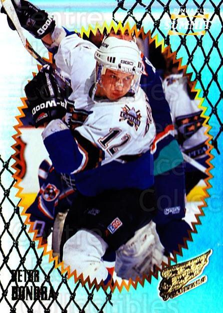 1996-97 Summit Premium Stock Shinny Front #62 Peter Bondra<br/>3 In Stock - $1.00 each - <a href=https://centericecollectibles.foxycart.com/cart?name=1996-97%20Summit%20Premium%20Stock%20Shinny%20Front%20%2362%20Peter%20Bondra...&quantity_max=3&price=$1.00&code=267377 class=foxycart> Buy it now! </a>