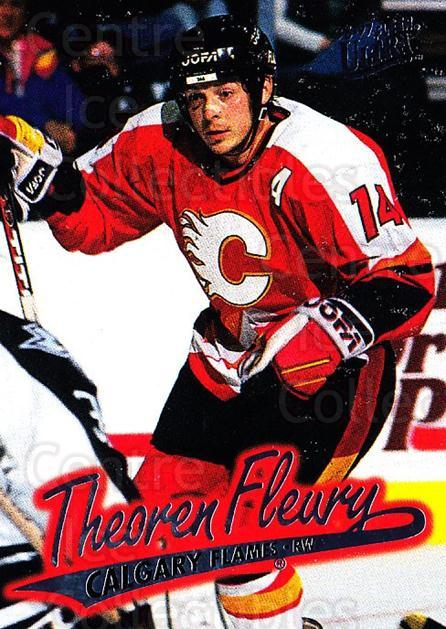 1996-97 Ultra #21 Theo Fleury<br/>4 In Stock - $1.00 each - <a href=https://centericecollectibles.foxycart.com/cart?name=1996-97%20Ultra%20%2321%20Theo%20Fleury...&quantity_max=4&price=$1.00&code=267536 class=foxycart> Buy it now! </a>