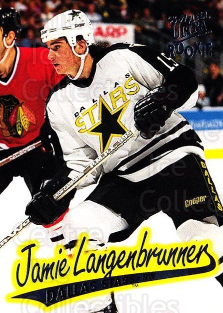 1996-97 Ultra #43 Jamie Langenbrunner<br/>4 In Stock - $1.00 each - <a href=https://centericecollectibles.foxycart.com/cart?name=1996-97%20Ultra%20%2343%20Jamie%20Langenbru...&quantity_max=4&price=$1.00&code=267558 class=foxycart> Buy it now! </a>