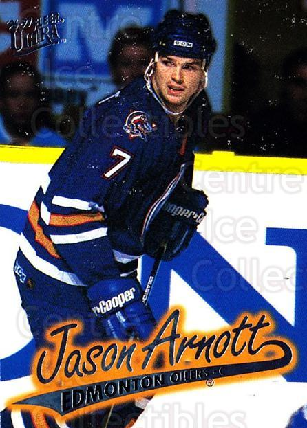 1996-97 Ultra #57 Jason Arnott<br/>4 In Stock - $1.00 each - <a href=https://centericecollectibles.foxycart.com/cart?name=1996-97%20Ultra%20%2357%20Jason%20Arnott...&quantity_max=4&price=$1.00&code=267572 class=foxycart> Buy it now! </a>