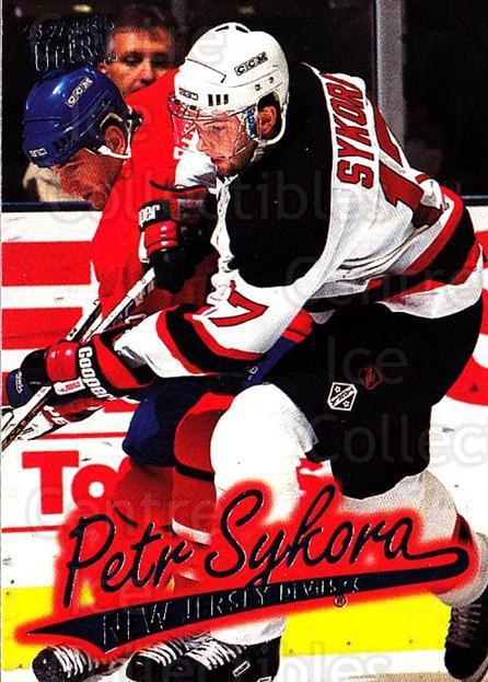 1996-97 Ultra #96 Petr Sykora<br/>3 In Stock - $1.00 each - <a href=https://centericecollectibles.foxycart.com/cart?name=1996-97%20Ultra%20%2396%20Petr%20Sykora...&quantity_max=3&price=$1.00&code=267611 class=foxycart> Buy it now! </a>