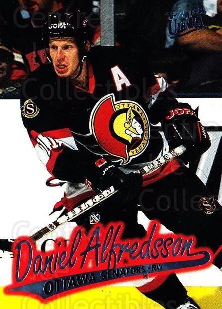 1996-97 Ultra #113 Daniel Alfredsson<br/>4 In Stock - $1.00 each - <a href=https://centericecollectibles.foxycart.com/cart?name=1996-97%20Ultra%20%23113%20Daniel%20Alfredss...&quantity_max=4&price=$1.00&code=267628 class=foxycart> Buy it now! </a>