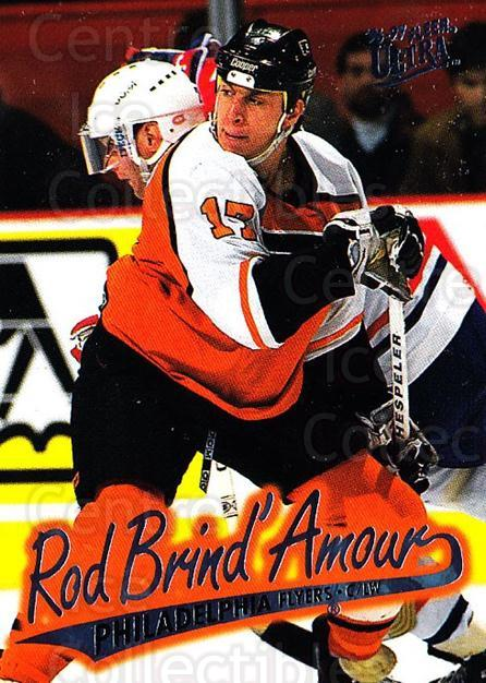 1996-97 Ultra #121 Rod Brind'Amour<br/>4 In Stock - $1.00 each - <a href=https://centericecollectibles.foxycart.com/cart?name=1996-97%20Ultra%20%23121%20Rod%20Brind'Amour...&quantity_max=4&price=$1.00&code=267636 class=foxycart> Buy it now! </a>