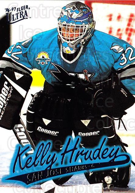 1996-97 Ultra #150 Kelly Hrudey<br/>2 In Stock - $1.00 each - <a href=https://centericecollectibles.foxycart.com/cart?name=1996-97%20Ultra%20%23150%20Kelly%20Hrudey...&quantity_max=2&price=$1.00&code=267665 class=foxycart> Buy it now! </a>