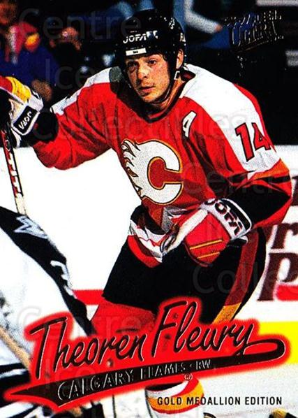 1996-97 Ultra Gold #21 Theo Fleury<br/>7 In Stock - $2.00 each - <a href=https://centericecollectibles.foxycart.com/cart?name=1996-97%20Ultra%20Gold%20%2321%20Theo%20Fleury...&quantity_max=7&price=$2.00&code=267716 class=foxycart> Buy it now! </a>