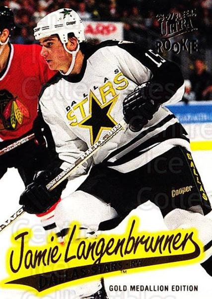 1996-97 Ultra Gold #43 Jamie Langenbrunner<br/>8 In Stock - $2.00 each - <a href=https://centericecollectibles.foxycart.com/cart?name=1996-97%20Ultra%20Gold%20%2343%20Jamie%20Langenbru...&quantity_max=8&price=$2.00&code=267738 class=foxycart> Buy it now! </a>