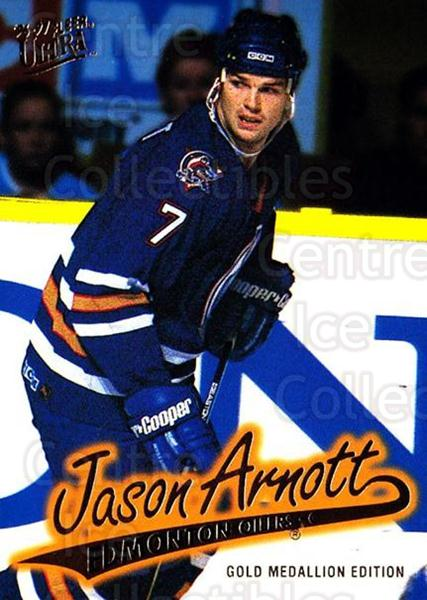 1996-97 Ultra Gold #57 Jason Arnott<br/>7 In Stock - $2.00 each - <a href=https://centericecollectibles.foxycart.com/cart?name=1996-97%20Ultra%20Gold%20%2357%20Jason%20Arnott...&quantity_max=7&price=$2.00&code=267752 class=foxycart> Buy it now! </a>