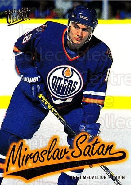 1996-97 Ultra Gold #62 Miroslav Satan<br/>4 In Stock - $2.00 each - <a href=https://centericecollectibles.foxycart.com/cart?name=1996-97%20Ultra%20Gold%20%2362%20Miroslav%20Satan...&quantity_max=4&price=$2.00&code=267757 class=foxycart> Buy it now! </a>