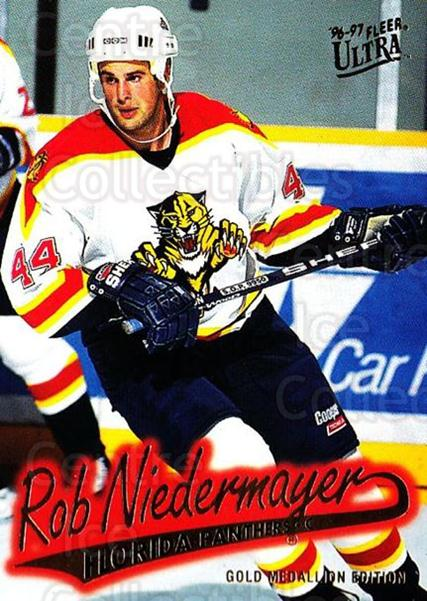 1996-97 Ultra Gold #67 Rob Niedermayer<br/>5 In Stock - $2.00 each - <a href=https://centericecollectibles.foxycart.com/cart?name=1996-97%20Ultra%20Gold%20%2367%20Rob%20Niedermayer...&quantity_max=5&price=$2.00&code=267762 class=foxycart> Buy it now! </a>