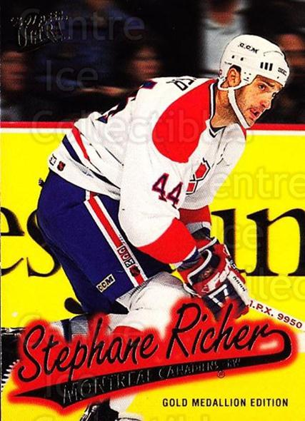 1996-97 Ultra Gold #89 Stephane Richer<br/>2 In Stock - $2.00 each - <a href=https://centericecollectibles.foxycart.com/cart?name=1996-97%20Ultra%20Gold%20%2389%20Stephane%20Richer...&quantity_max=2&price=$2.00&code=267784 class=foxycart> Buy it now! </a>
