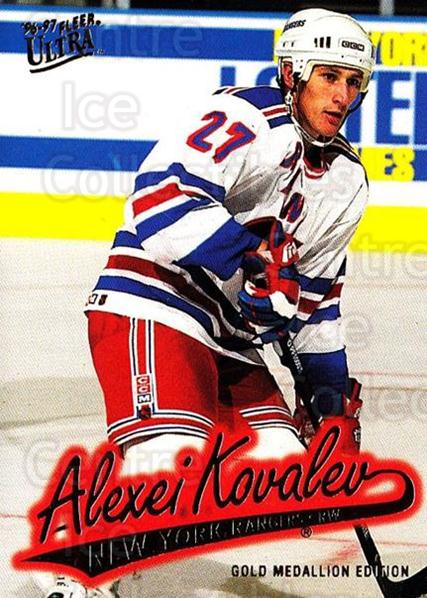 1996-97 Ultra Gold #107 Alexei Kovalev<br/>4 In Stock - $2.00 each - <a href=https://centericecollectibles.foxycart.com/cart?name=1996-97%20Ultra%20Gold%20%23107%20Alexei%20Kovalev...&quantity_max=4&price=$2.00&code=267802 class=foxycart> Buy it now! </a>