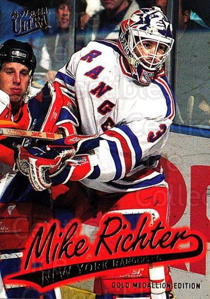 1996-97 Ultra Gold #110 Mike Richter<br/>3 In Stock - $2.00 each - <a href=https://centericecollectibles.foxycart.com/cart?name=1996-97%20Ultra%20Gold%20%23110%20Mike%20Richter...&quantity_max=3&price=$2.00&code=267805 class=foxycart> Buy it now! </a>