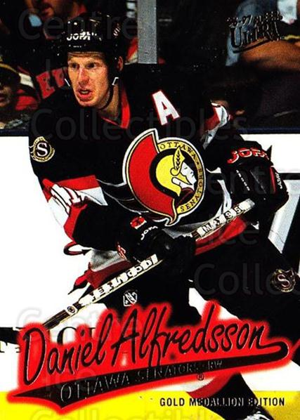 1996-97 Ultra Gold #113 Daniel Alfredsson<br/>7 In Stock - $2.00 each - <a href=https://centericecollectibles.foxycart.com/cart?name=1996-97%20Ultra%20Gold%20%23113%20Daniel%20Alfredss...&quantity_max=7&price=$2.00&code=267808 class=foxycart> Buy it now! </a>