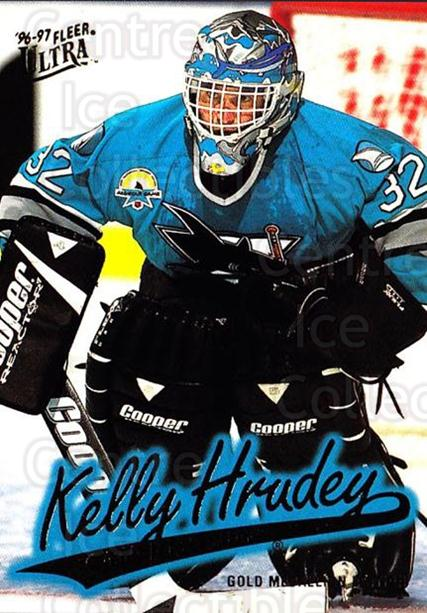 1996-97 Ultra Gold #150 Kelly Hrudey<br/>6 In Stock - $2.00 each - <a href=https://centericecollectibles.foxycart.com/cart?name=1996-97%20Ultra%20Gold%20%23150%20Kelly%20Hrudey...&quantity_max=6&price=$2.00&code=267845 class=foxycart> Buy it now! </a>