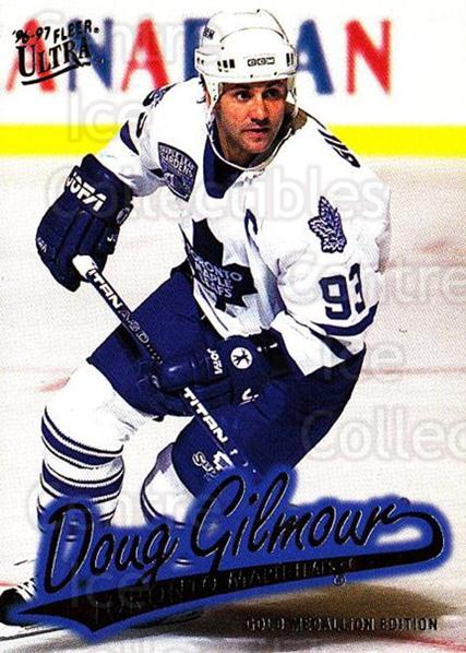 1996-97 Ultra Gold #163 Doug Gilmour<br/>6 In Stock - $2.00 each - <a href=https://centericecollectibles.foxycart.com/cart?name=1996-97%20Ultra%20Gold%20%23163%20Doug%20Gilmour...&quantity_max=6&price=$2.00&code=267858 class=foxycart> Buy it now! </a>