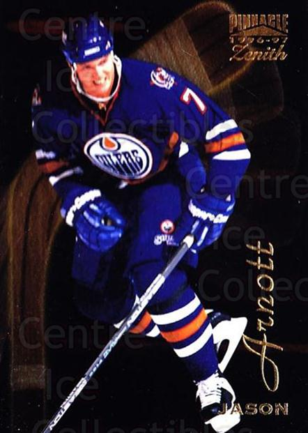 1996-97 Zenith #65 Jason Arnott<br/>7 In Stock - $1.00 each - <a href=https://centericecollectibles.foxycart.com/cart?name=1996-97%20Zenith%20%2365%20Jason%20Arnott...&quantity_max=7&price=$1.00&code=267940 class=foxycart> Buy it now! </a>