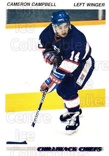 1992-93 British Columbia Junior Hockey League #28 Cameron Campbell<br/>3 In Stock - $2.00 each - <a href=https://centericecollectibles.foxycart.com/cart?name=1992-93%20British%20Columbia%20Junior%20Hockey%20League%20%2328%20Cameron%20Campbel...&quantity_max=3&price=$2.00&code=268556 class=foxycart> Buy it now! </a>