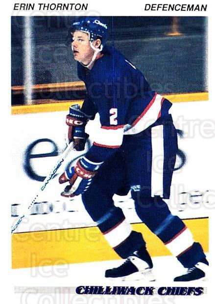 1992-93 British Columbia Junior Hockey League #35 Erin Thornton<br/>3 In Stock - $2.00 each - <a href=https://centericecollectibles.foxycart.com/cart?name=1992-93%20British%20Columbia%20Junior%20Hockey%20League%20%2335%20Erin%20Thornton...&quantity_max=3&price=$2.00&code=268563 class=foxycart> Buy it now! </a>