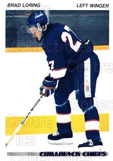 1992-93 British Columbia Junior Hockey League #36 Brad Loring<br/>1 In Stock - $2.00 each - <a href=https://centericecollectibles.foxycart.com/cart?name=1992-93%20British%20Columbia%20Junior%20Hockey%20League%20%2336%20Brad%20Loring...&quantity_max=1&price=$2.00&code=268564 class=foxycart> Buy it now! </a>
