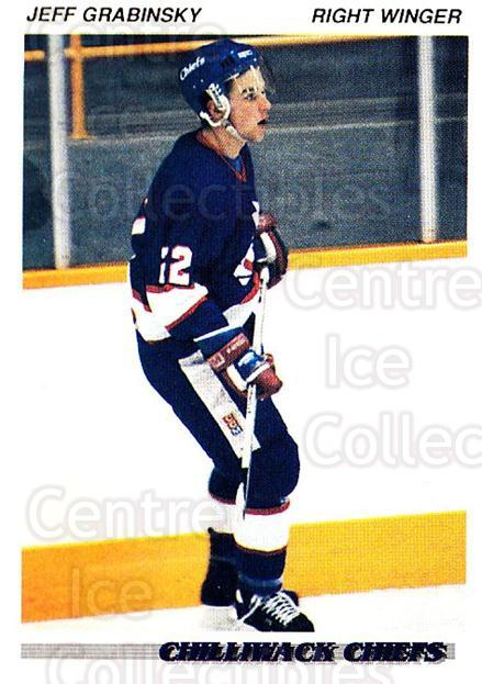 1992-93 British Columbia Junior Hockey League #38 Jeff Grabinsky<br/>2 In Stock - $2.00 each - <a href=https://centericecollectibles.foxycart.com/cart?name=1992-93%20British%20Columbia%20Junior%20Hockey%20League%20%2338%20Jeff%20Grabinsky...&quantity_max=2&price=$2.00&code=268566 class=foxycart> Buy it now! </a>