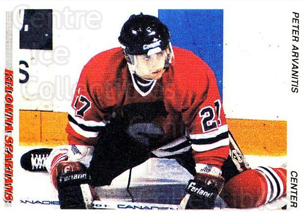 1992-93 British Columbia Junior Hockey League #57 Peter Arvanitis<br/>2 In Stock - $2.00 each - <a href=https://centericecollectibles.foxycart.com/cart?name=1992-93%20British%20Columbia%20Junior%20Hockey%20League%20%2357%20Peter%20Arvanitis...&price=$2.00&code=268585 class=foxycart> Buy it now! </a>