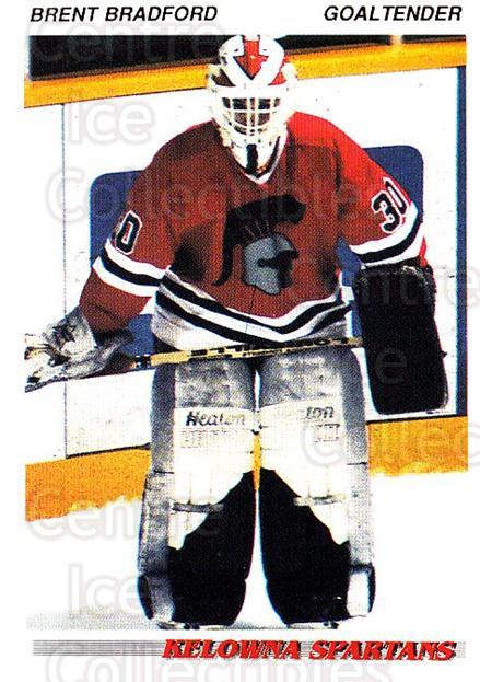 1992-93 British Columbia Junior Hockey League #63 Brent Bradford<br/>2 In Stock - $2.00 each - <a href=https://centericecollectibles.foxycart.com/cart?name=1992-93%20British%20Columbia%20Junior%20Hockey%20League%20%2363%20Brent%20Bradford...&price=$2.00&code=268591 class=foxycart> Buy it now! </a>