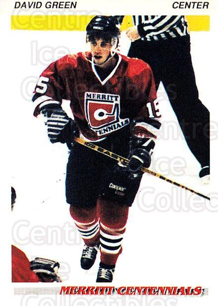 1992-93 British Columbia Junior Hockey League #73 David Green<br/>3 In Stock - $2.00 each - <a href=https://centericecollectibles.foxycart.com/cart?name=1992-93%20British%20Columbia%20Junior%20Hockey%20League%20%2373%20David%20Green...&quantity_max=3&price=$2.00&code=268601 class=foxycart> Buy it now! </a>