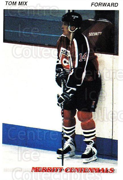 1992-93 British Columbia Junior Hockey League #74 Tom Mix<br/>3 In Stock - $2.00 each - <a href=https://centericecollectibles.foxycart.com/cart?name=1992-93%20British%20Columbia%20Junior%20Hockey%20League%20%2374%20Tom%20Mix...&quantity_max=3&price=$2.00&code=268602 class=foxycart> Buy it now! </a>