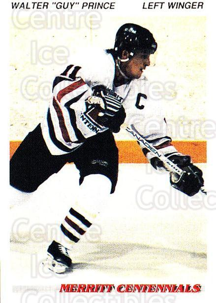 1992-93 British Columbia Junior Hockey League #75 Walter Prince<br/>3 In Stock - $2.00 each - <a href=https://centericecollectibles.foxycart.com/cart?name=1992-93%20British%20Columbia%20Junior%20Hockey%20League%20%2375%20Walter%20Prince...&quantity_max=3&price=$2.00&code=268603 class=foxycart> Buy it now! </a>