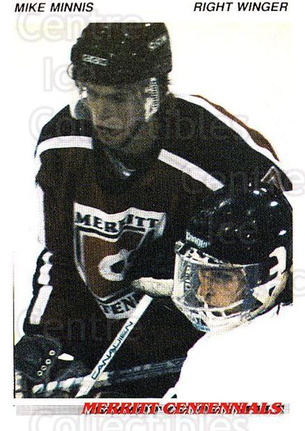 1992-93 British Columbia Junior Hockey League #83 Mike Minnis<br/>2 In Stock - $2.00 each - <a href=https://centericecollectibles.foxycart.com/cart?name=1992-93%20British%20Columbia%20Junior%20Hockey%20League%20%2383%20Mike%20Minnis...&quantity_max=2&price=$2.00&code=268611 class=foxycart> Buy it now! </a>