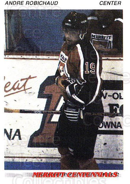 1992-93 British Columbia Junior Hockey League #85 Andre Robichaud<br/>1 In Stock - $2.00 each - <a href=https://centericecollectibles.foxycart.com/cart?name=1992-93%20British%20Columbia%20Junior%20Hockey%20League%20%2385%20Andre%20Robichaud...&quantity_max=1&price=$2.00&code=268613 class=foxycart> Buy it now! </a>