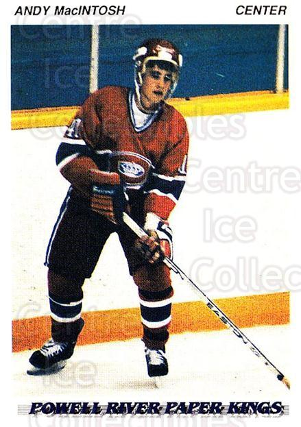 1992-93 British Columbia Junior Hockey League #153 Andy MacIntosh<br/>3 In Stock - $2.00 each - <a href=https://centericecollectibles.foxycart.com/cart?name=1992-93%20British%20Columbia%20Junior%20Hockey%20League%20%23153%20Andy%20MacIntosh...&price=$2.00&code=268681 class=foxycart> Buy it now! </a>