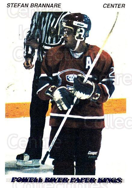 1992-93 British Columbia Junior Hockey League #154 Stefan Brannare<br/>1 In Stock - $2.00 each - <a href=https://centericecollectibles.foxycart.com/cart?name=1992-93%20British%20Columbia%20Junior%20Hockey%20League%20%23154%20Stefan%20Brannare...&price=$2.00&code=268682 class=foxycart> Buy it now! </a>