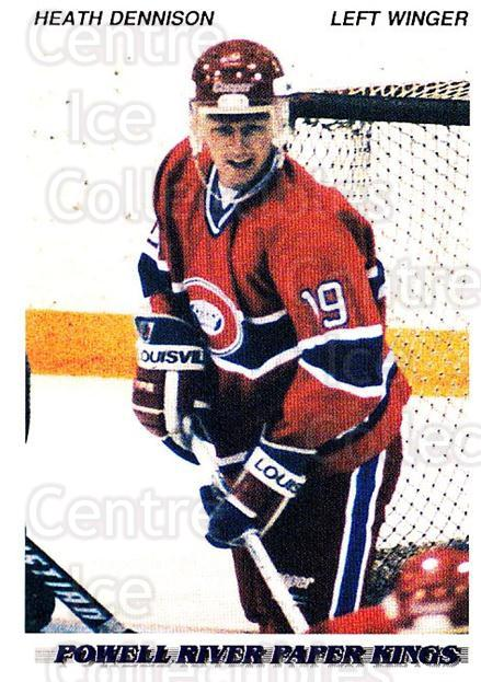 1992-93 British Columbia Junior Hockey League #158 Heath Dennison<br/>3 In Stock - $2.00 each - <a href=https://centericecollectibles.foxycart.com/cart?name=1992-93%20British%20Columbia%20Junior%20Hockey%20League%20%23158%20Heath%20Dennison...&price=$2.00&code=268686 class=foxycart> Buy it now! </a>