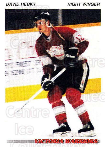 1992-93 British Columbia Junior Hockey League #215 David Hebky<br/>1 In Stock - $2.00 each - <a href=https://centericecollectibles.foxycart.com/cart?name=1992-93%20British%20Columbia%20Junior%20Hockey%20League%20%23215%20David%20Hebky...&quantity_max=1&price=$2.00&code=268743 class=foxycart> Buy it now! </a>