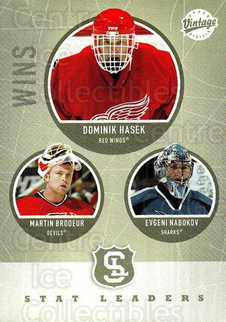 2002-03 UD Vintage #316 Dominik Hasek, Martin Brodeur, Evgeni Nabokov<br/>3 In Stock - $2.00 each - <a href=https://centericecollectibles.foxycart.com/cart?name=2002-03%20UD%20Vintage%20%23316%20Dominik%20Hasek,%20...&quantity_max=3&price=$2.00&code=268775 class=foxycart> Buy it now! </a>