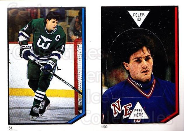 1986-87 O-Pee-Chee Stickers #051-190 Ron Francis, John Vanbiesbrouck<br/>1 In Stock - $3.00 each - <a href=https://centericecollectibles.foxycart.com/cart?name=1986-87%20O-Pee-Chee%20Stickers%20%23051-190%20Ron%20Francis,%20Jo...&quantity_max=1&price=$3.00&code=268786 class=foxycart> Buy it now! </a>