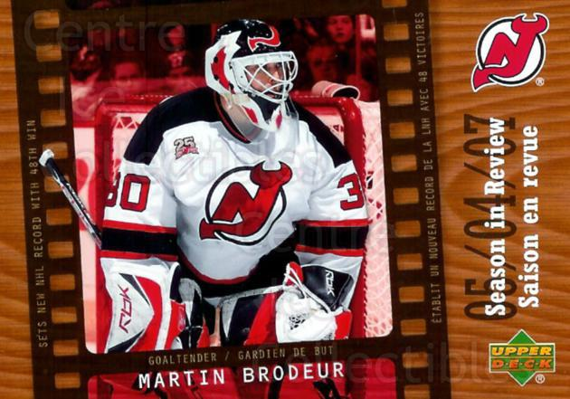 2007-08 McDonald's Upper Deck Season in Review #4 Martin Brodeur<br/>7 In Stock - $3.00 each - <a href=https://centericecollectibles.foxycart.com/cart?name=2007-08%20McDonald's%20Upper%20Deck%20Season%20in%20Review%20%234%20Martin%20Brodeur...&price=$3.00&code=268808 class=foxycart> Buy it now! </a>