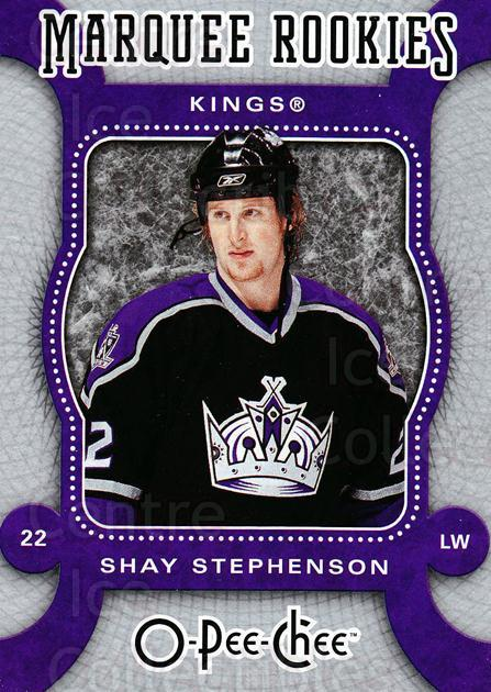 2007-08 O-Pee-Chee #555 Shay Stephenson<br/>3 In Stock - $2.00 each - <a href=https://centericecollectibles.foxycart.com/cart?name=2007-08%20O-Pee-Chee%20%23555%20Shay%20Stephenson...&price=$2.00&code=268864 class=foxycart> Buy it now! </a>