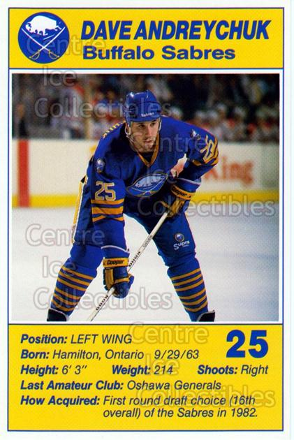 1988-89 Buffalo Sabres Blue Shield #2 Dave Andreychuk<br/>2 In Stock - $3.00 each - <a href=https://centericecollectibles.foxycart.com/cart?name=1988-89%20Buffalo%20Sabres%20Blue%20Shield%20%232%20Dave%20Andreychuk...&quantity_max=2&price=$3.00&code=268920 class=foxycart> Buy it now! </a>