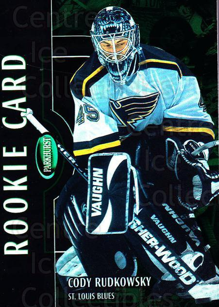 2002-03 Parkhurst #248 Cody Rudkowsky<br/>1 In Stock - $5.00 each - <a href=https://centericecollectibles.foxycart.com/cart?name=2002-03%20Parkhurst%20%23248%20Cody%20Rudkowsky...&quantity_max=1&price=$5.00&code=268998 class=foxycart> Buy it now! </a>